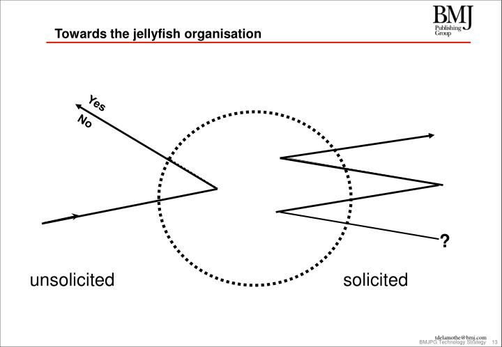 Towards the jellyfish organisation