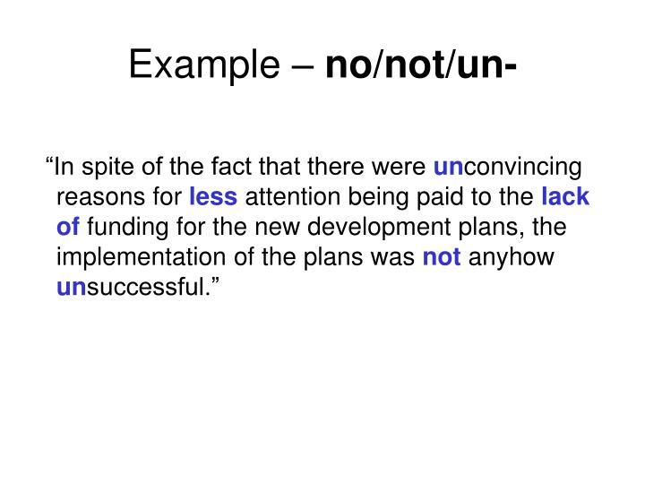 Example –