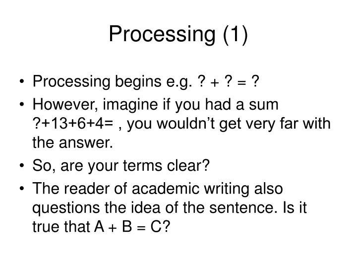 Processing (1)