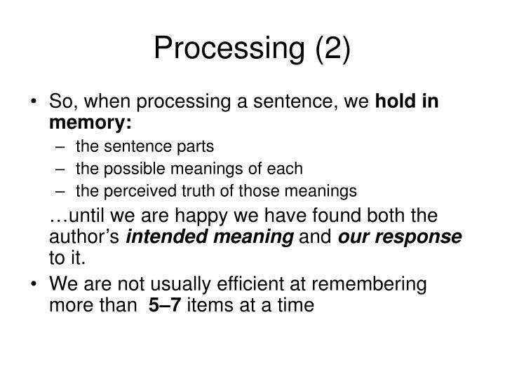 Processing (2)