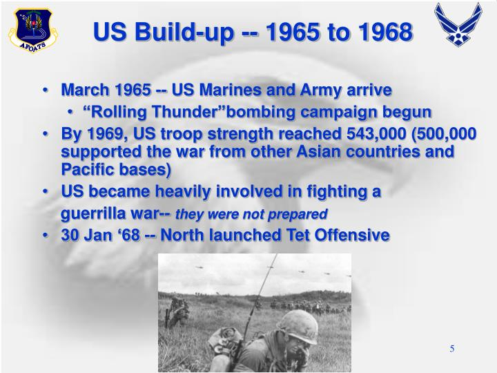US Build-up -- 1965 to 1968