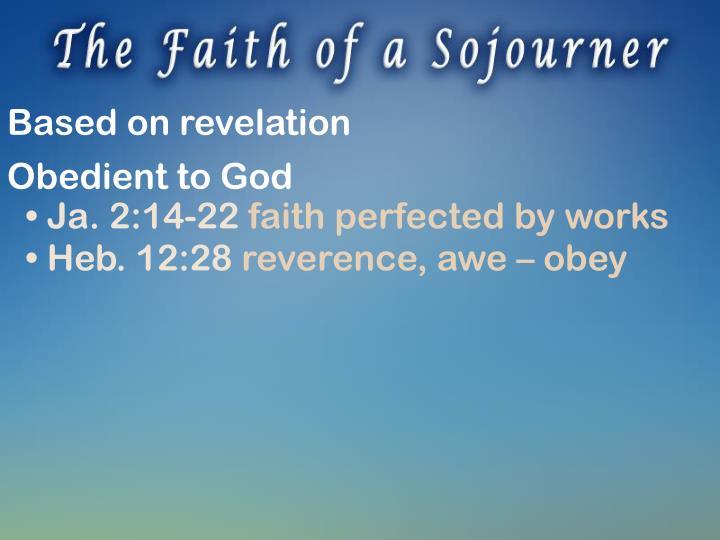 Based on revelation