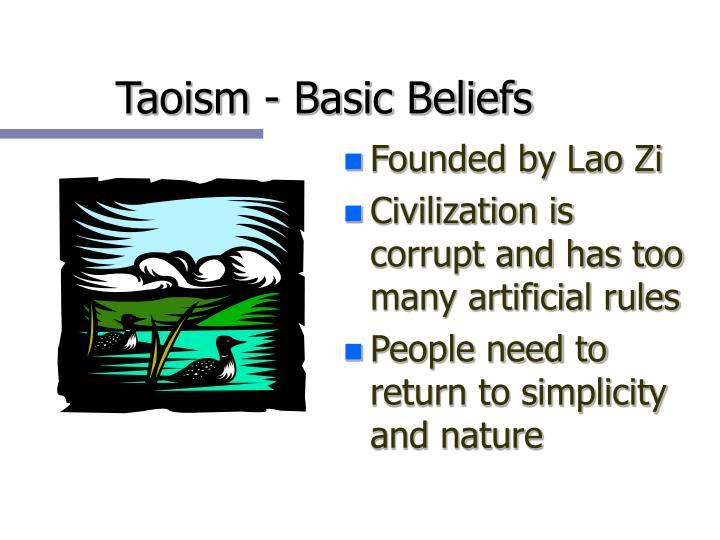 Taoism - Basic Beliefs