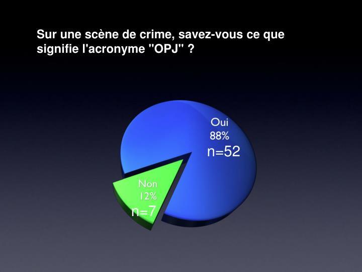 """Sur une scène de crime, savez-vous ce que signifie l'acronyme """"OPJ""""?"""