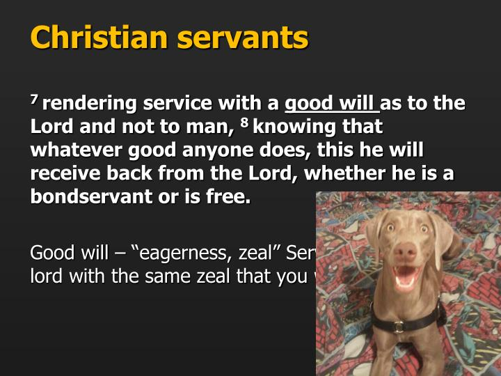 Christian servants