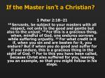 if the master isn t a christian1
