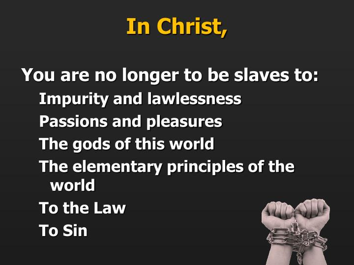 In Christ,