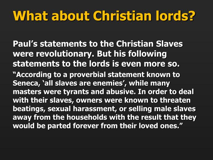What about Christian lords?