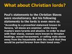 what about christian lords