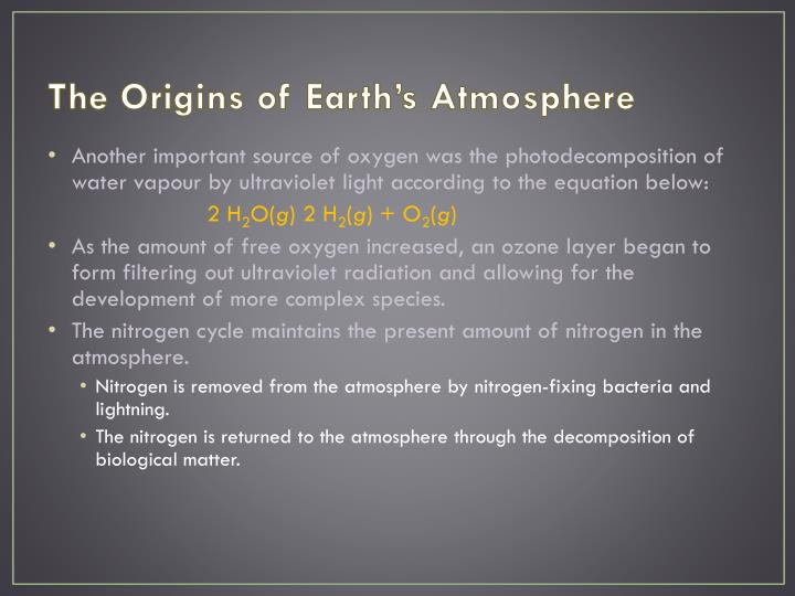 The Origins of Earth's Atmosphere