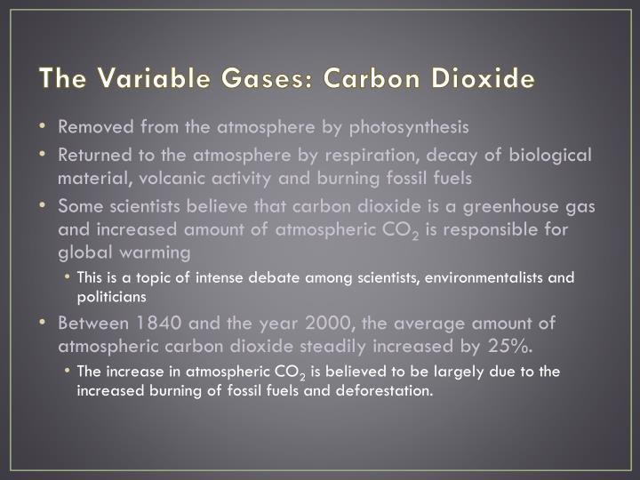 The Variable Gases: Carbon Dioxide