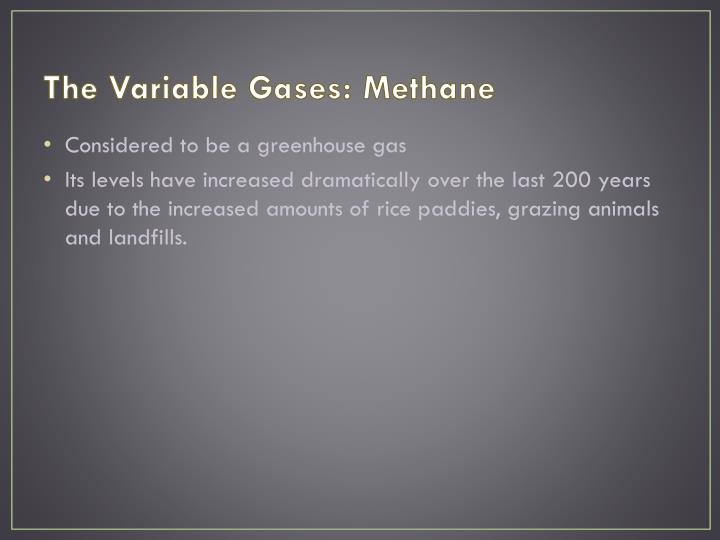 The Variable Gases: Methane
