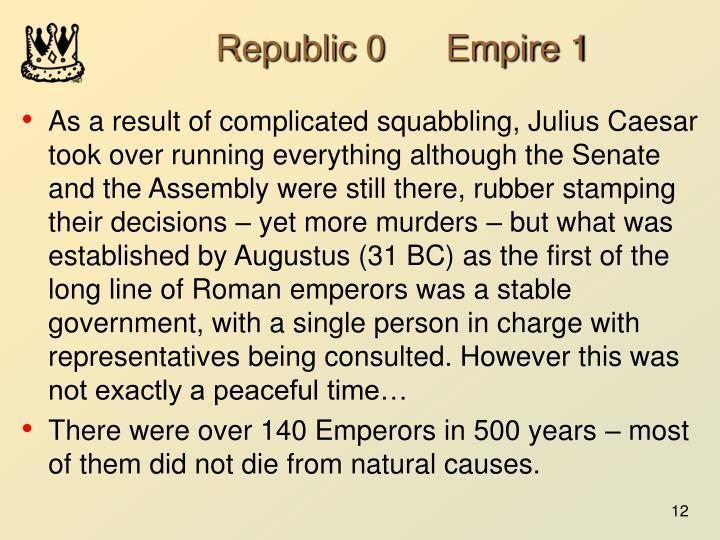 Republic 0      Empire 1
