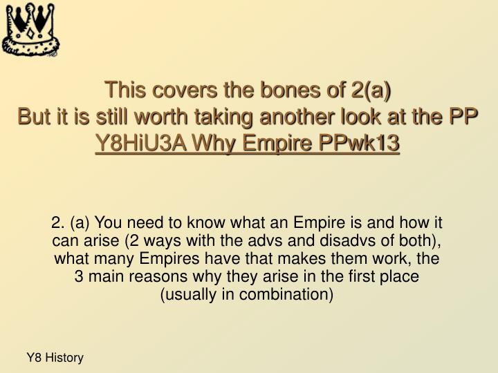 This covers the bones of 2(a)