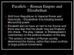 parallels roman empire and elizabethan