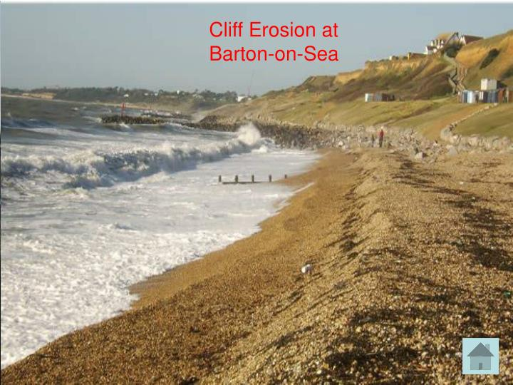 Cliff Erosion at Barton-on-Sea