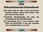 1920 enfranchisement amendment