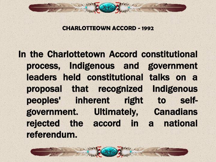 CHARLOTTEOWN ACCORD - 1992