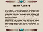 indian act 18761