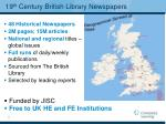 19 th century british library newspapers