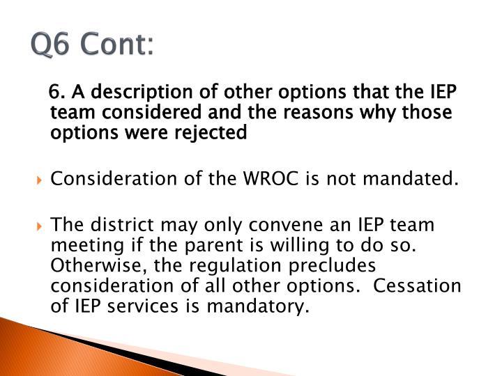 Q6 Cont: