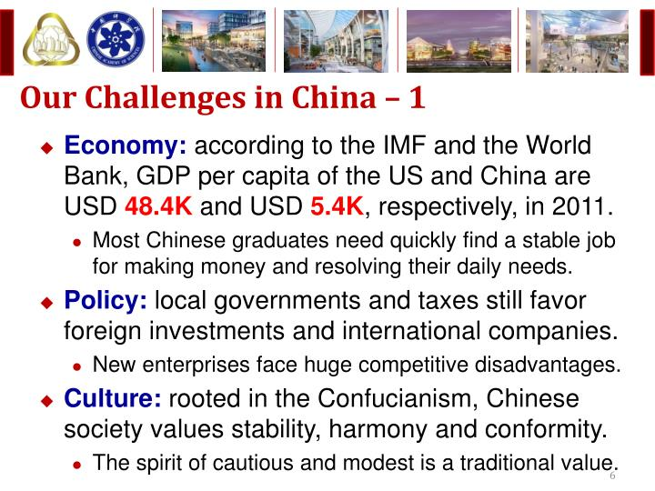 Our Challenges in China – 1