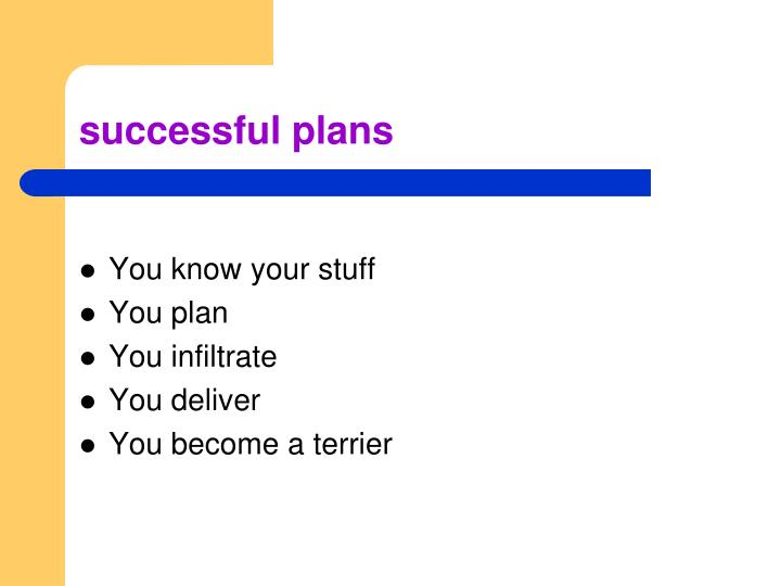 successful plans
