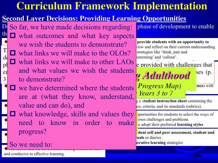 Curriculum Framework Implementation