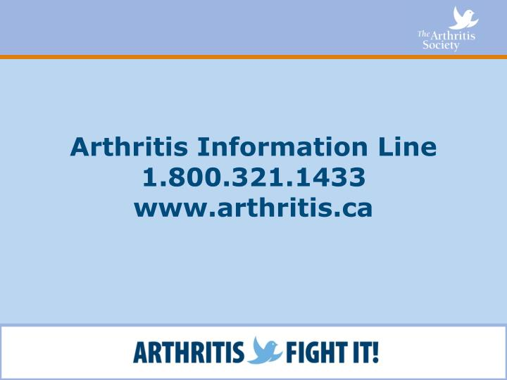 Arthritis Information Line