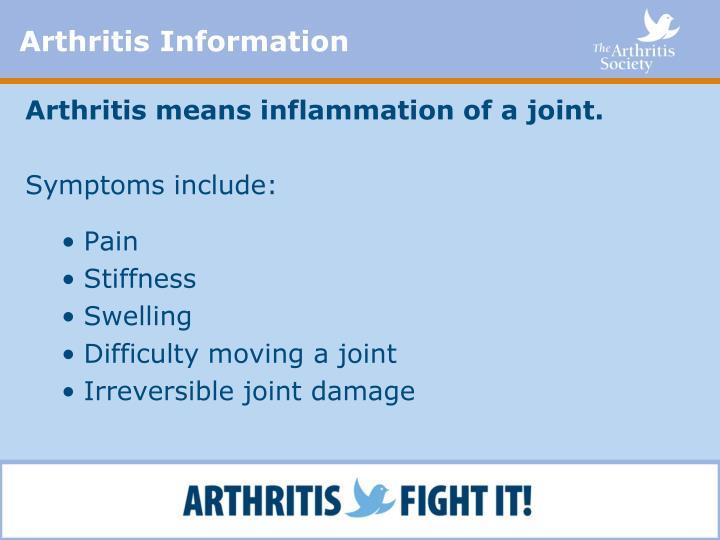 Arthritis Information