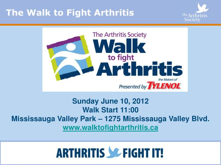 The Walk to Fight Arthritis