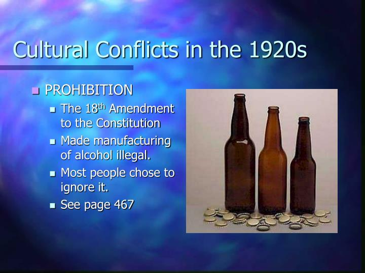 Cultural Conflicts in the 1920s