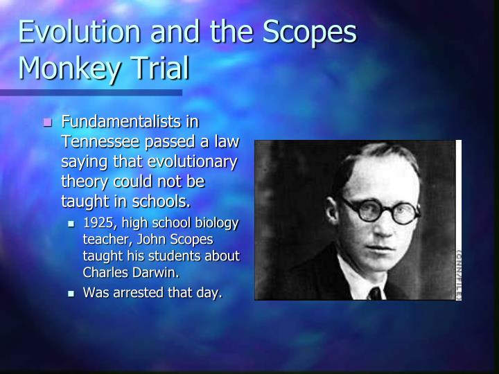 Evolution and the Scopes Monkey Trial