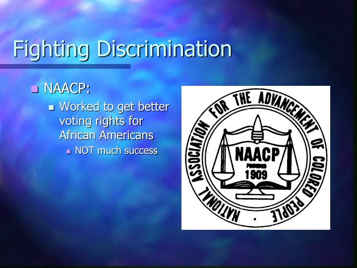 Fighting Discrimination