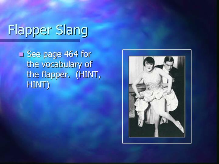 Flapper Slang