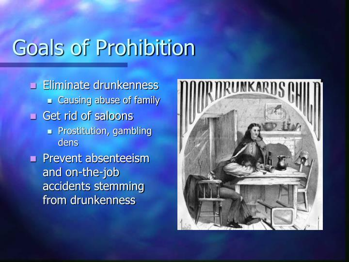 Goals of Prohibition