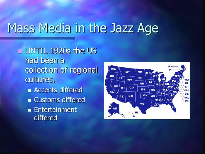 Mass Media in the Jazz Age