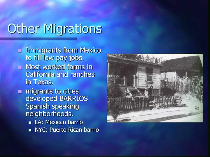 Other Migrations