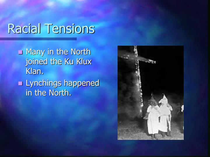 Racial Tensions