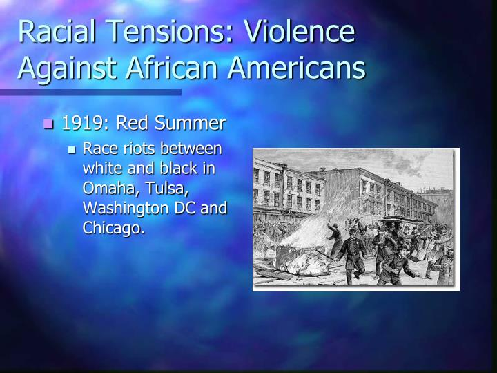 Racial Tensions: Violence Against African Americans