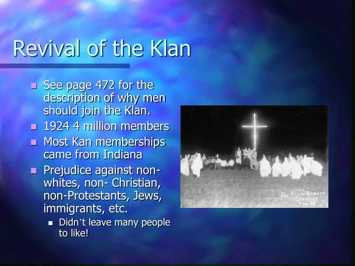Revival of the Klan