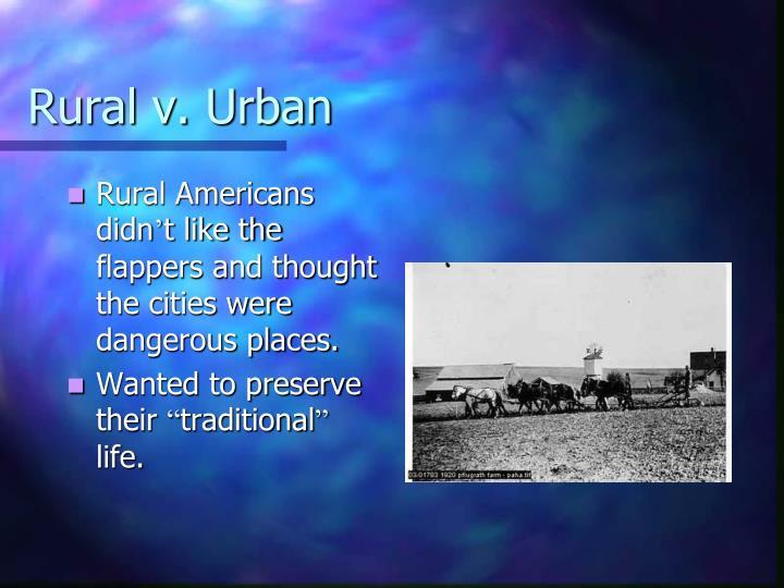Rural v. Urban
