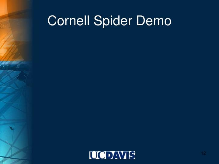 Cornell Spider Demo