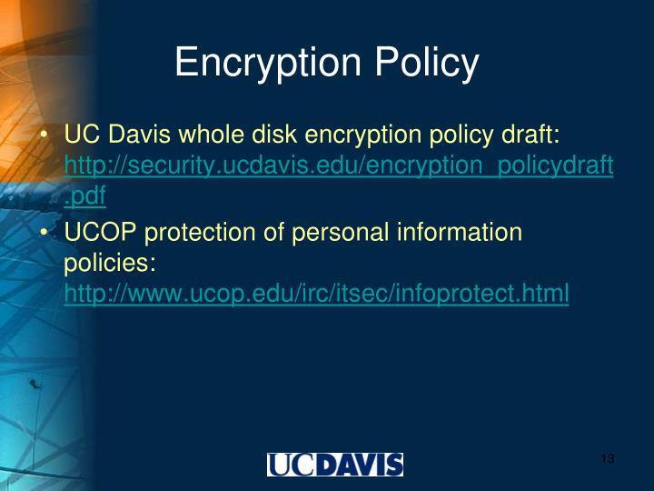 Encryption Policy