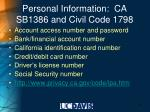 personal information ca sb1386 and civil code 1798