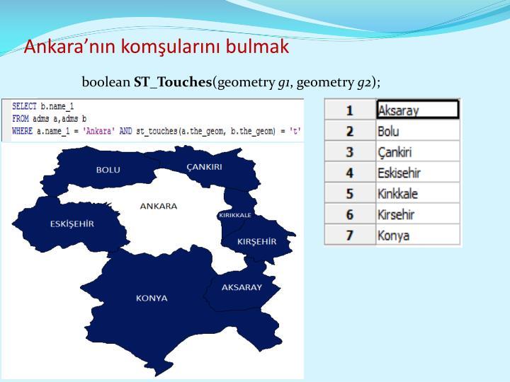 Ankara'nın komşularını bulmak