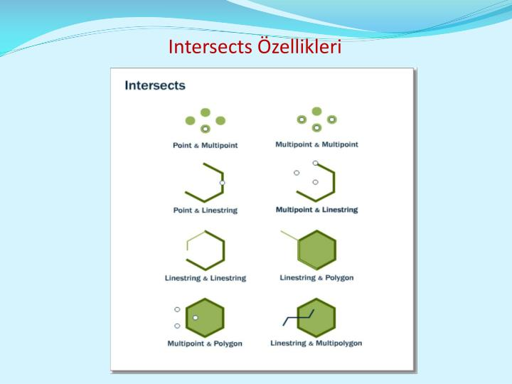 Intersects Özellikleri