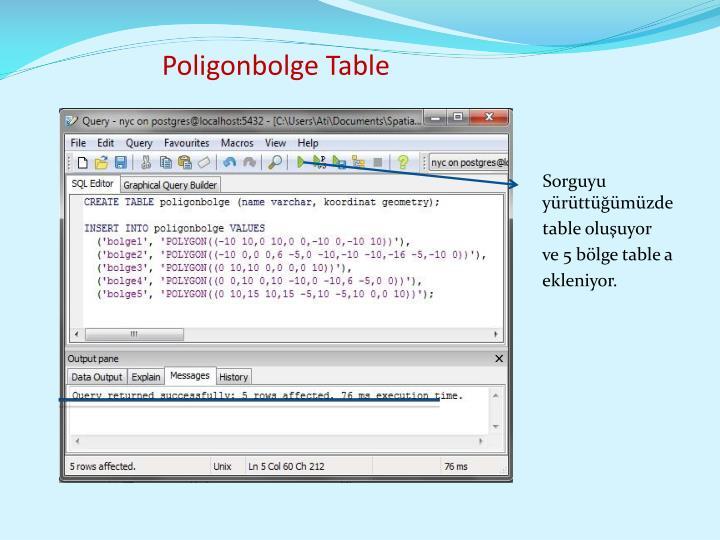 Poligonbolge Table