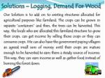 solutions logging demand for wood