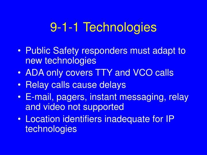 9-1-1 Technologies